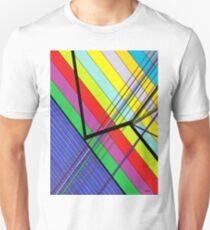 Diagonal Color - Abstract T-Shirt