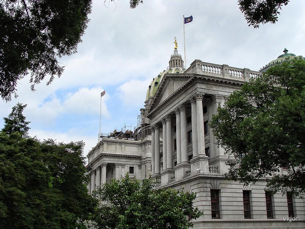 Capital building of Harrisburg by vigor