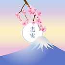 Mt Fuji Plum Blossoms Spring Japanese Umenohana by Beverly Claire Kaiya