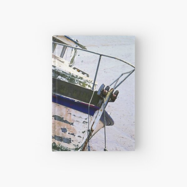 Ancient Beached Boat Hardcover Journal