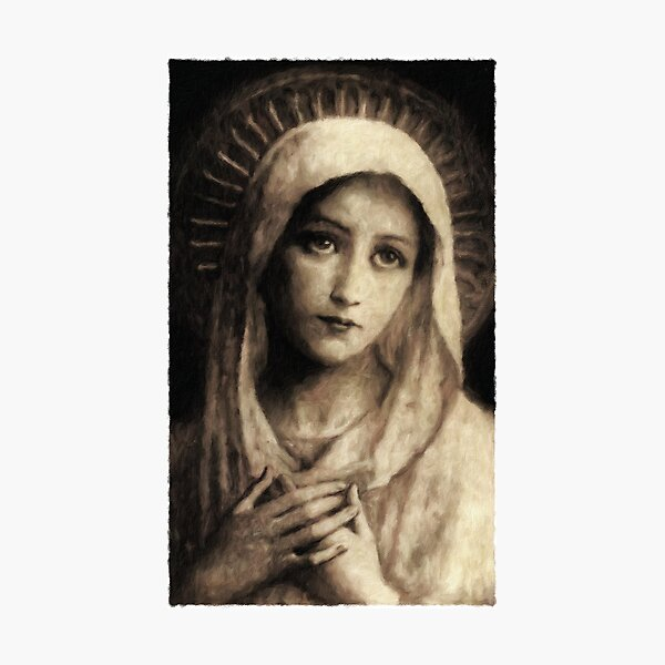 Vintage Virgin Mary Painting Photographic Print