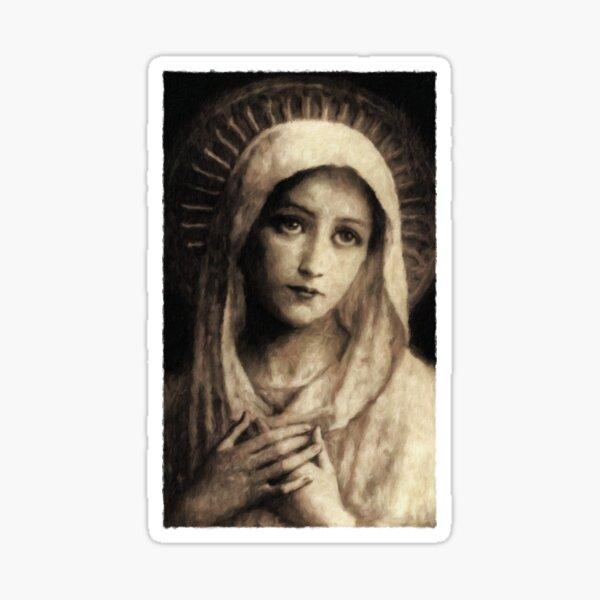 Vintage Virgin Mary Painting Sticker