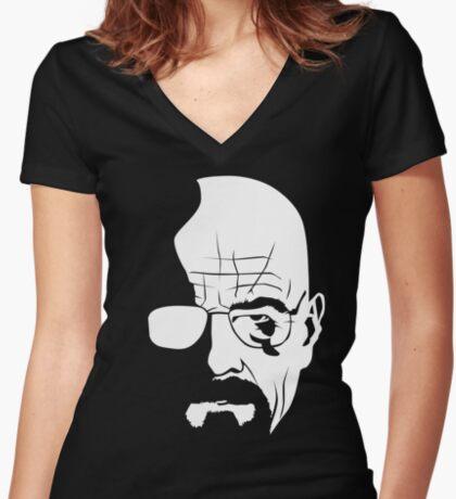 Walter White Women's Fitted V-Neck T-Shirt
