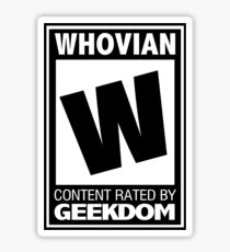 Rated W for Whovian (Black) Sticker