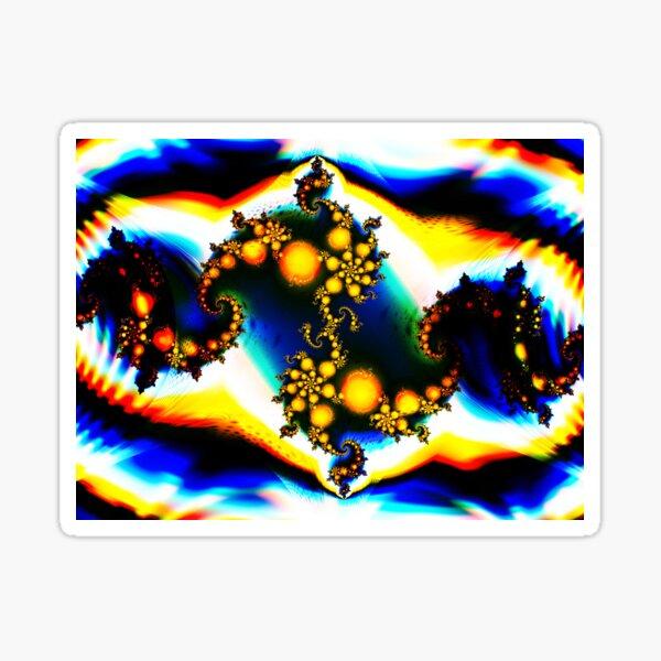Dark Psychedelic Rainbow Fractal Sticker