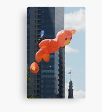 Flying Bear Watches Over City of Milwaukee Metal Print