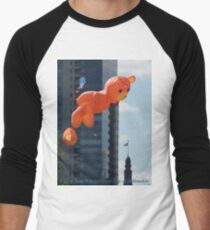 Flying Bear Watches Over City of Milwaukee Men's Baseball ¾ T-Shirt