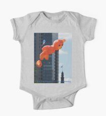 Flying Bear Watches Over City of Milwaukee One Piece - Short Sleeve