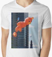 Flying Bear Watches Over City of Milwaukee Men's V-Neck T-Shirt