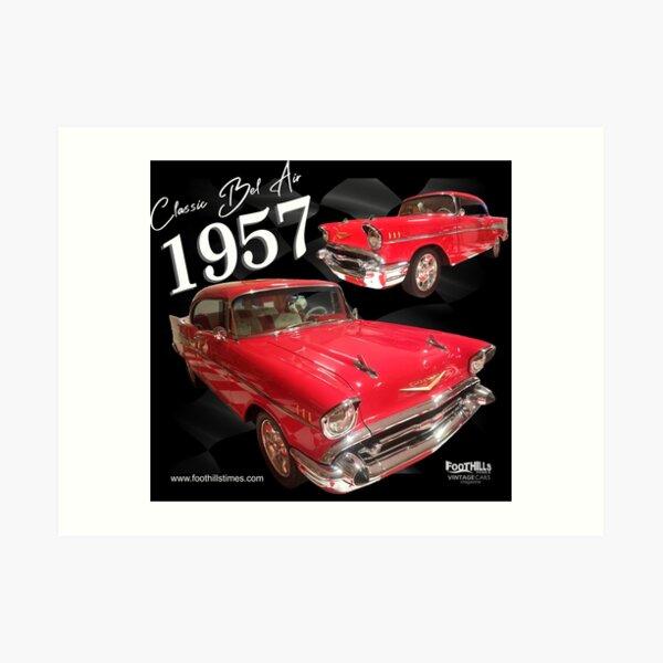 Bel Air Classic 1957 Art Print
