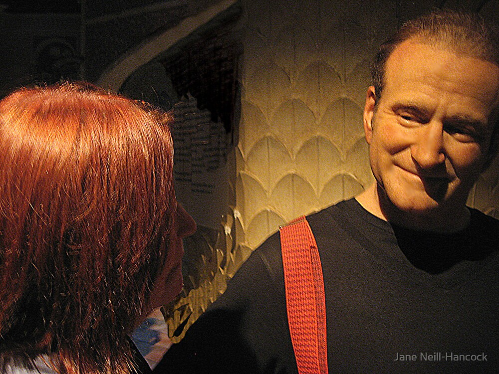 Chatting With Robin Williams (wax figure) by Jane Neill-Hancock
