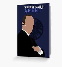 """His First Name is """"AGENT."""" Greeting Card"""