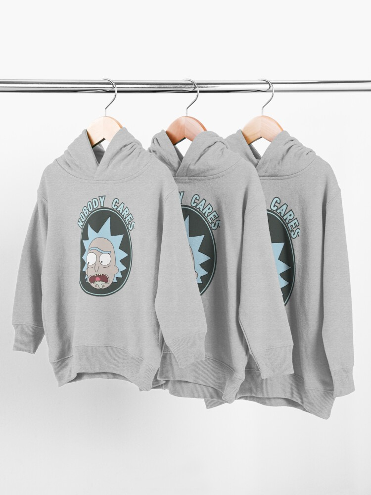Alternate view of Rick and Morty - Nobody cares! quote Toddler Pullover Hoodie