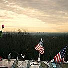 April 2002 Sunrise At Eagle Rock Lookout - Home made Memorials to 9-11 Photo 1 by Jane Neill-Hancock