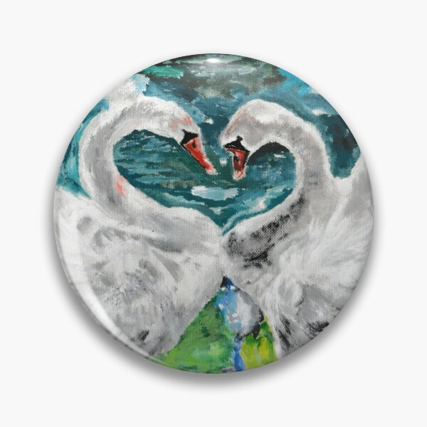 Swans in Love Pin