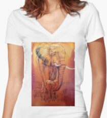 Protected Women's Fitted V-Neck T-Shirt