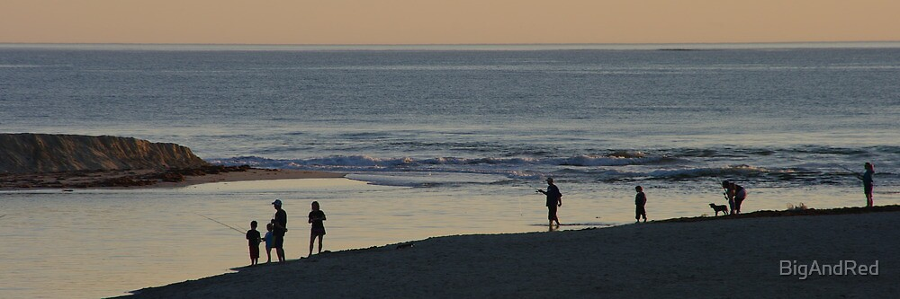 fishing in the river mouth by BigAndRed