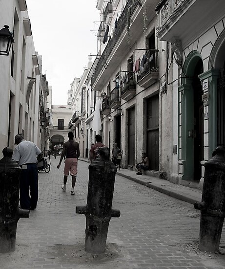 Cuban Street scene, vertical. by brians101