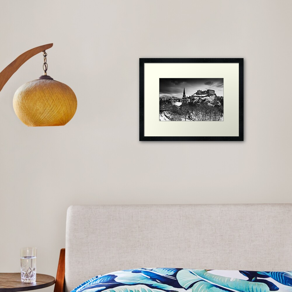 Edinburgh In Ermine Framed Art Print