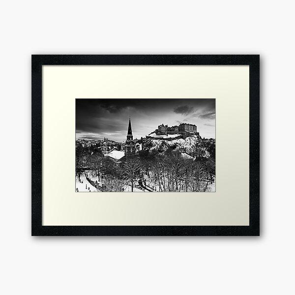 Edinburgh In Ermine Framed Art Print