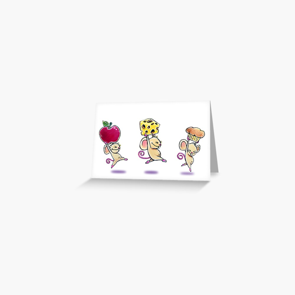 Lunch Time Mice Greeting Card Greeting Card