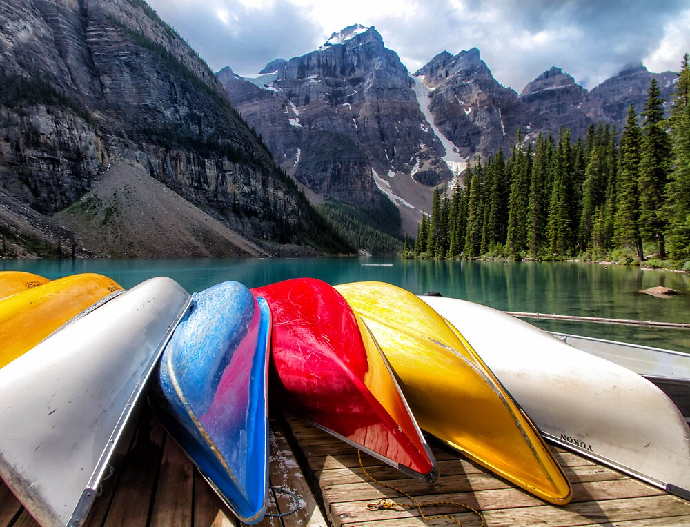 Moraine lake by Mark Bilham