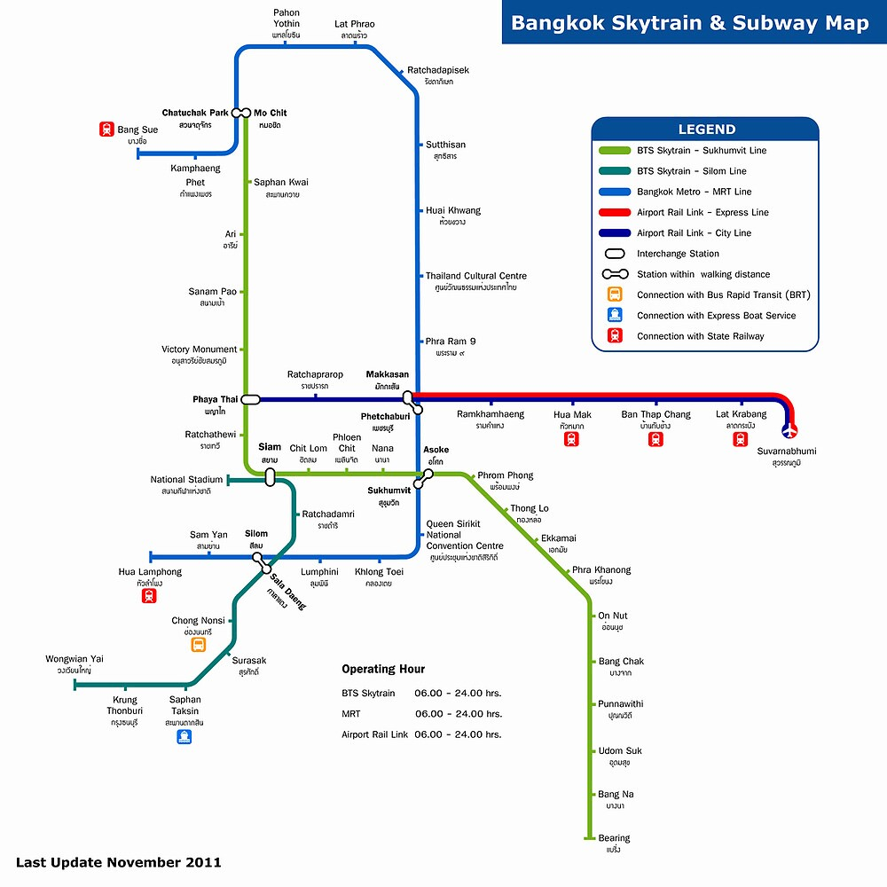 Bangkok Metro Map by boy8293