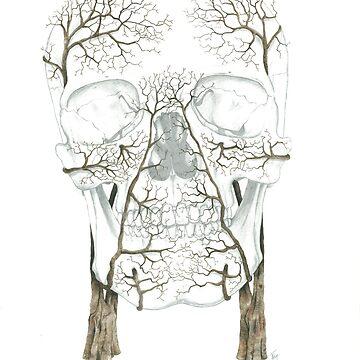 Winter Jacaranda Skull by jf901