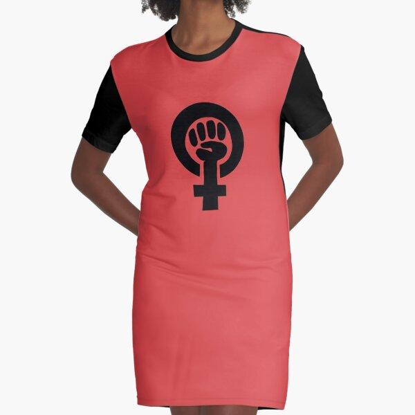Feminist Symbol Graphic T-Shirt Dress