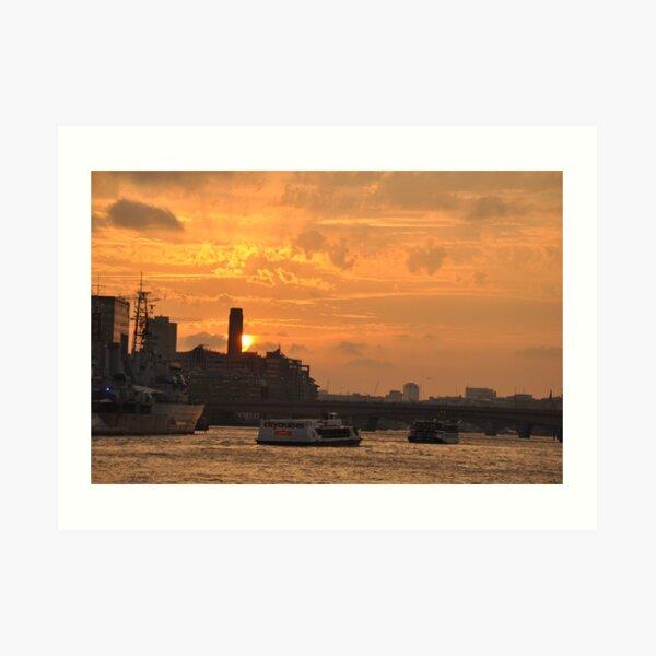 English sunset Art Print