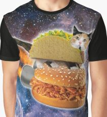 Taco Cat In Space Graphic T-Shirt