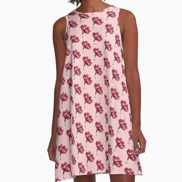 Watercolor flowers A-Line Dress