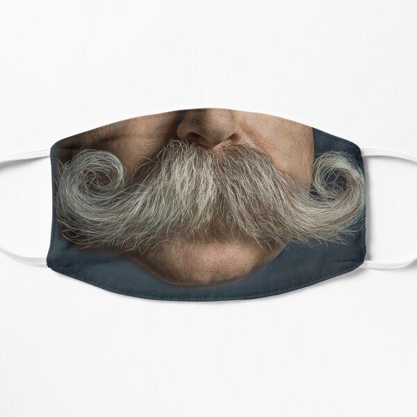 Handlebar Mustache Face Flat Mask