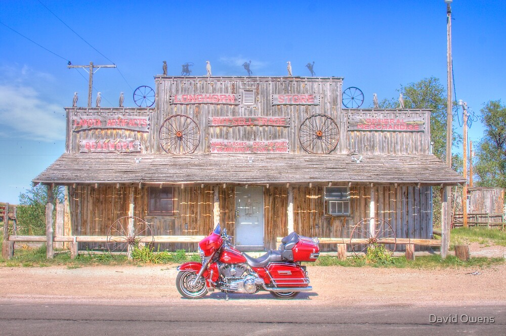 Scenic, South Dakota Longhorn Store-2012 Sturgis Rally by David Owens