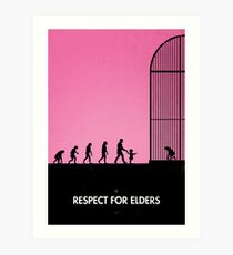 99 steps of progress - Respect for elders Art Print