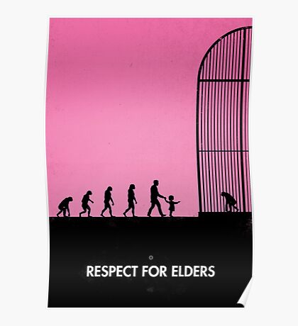99 steps of progress - Respect for elders Poster