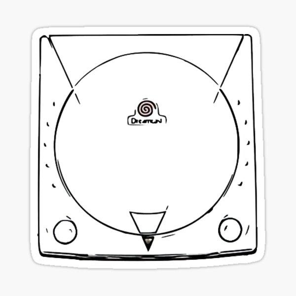 Cartoon consoles - Dreamcast Sticker