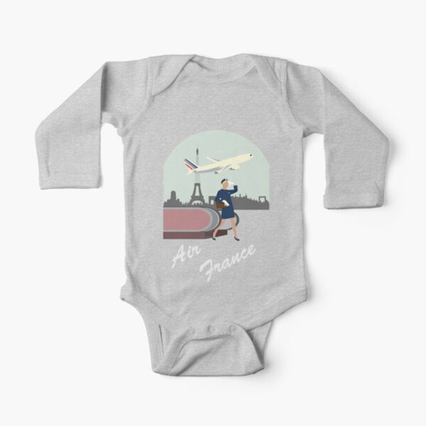 Air France Long Sleeve Baby One-Piece