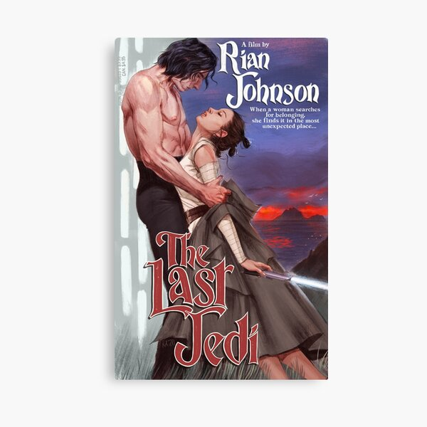 ella lo encuentra en el lugar más inesperado ...  --------  Un homenaje a la ilustración de la famosa novela romántica GOAT Robert McGinnis Lienzo