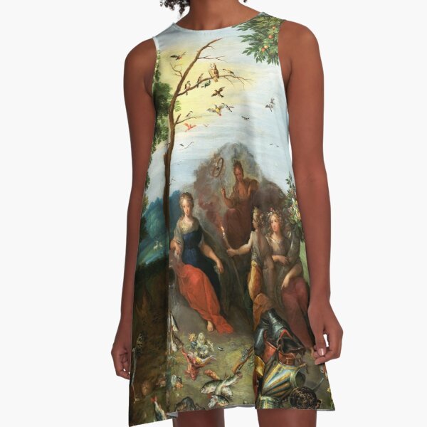 Landscape with Allegories of the Four Elements A-Line Dress