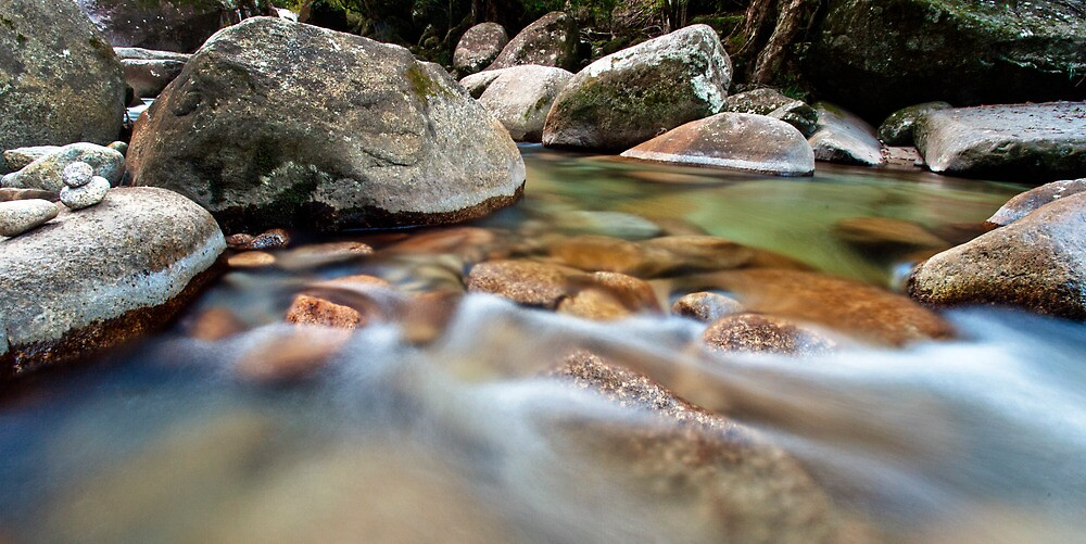On the rocks - Josephine Falls, far north Queensland by Jenny Dean