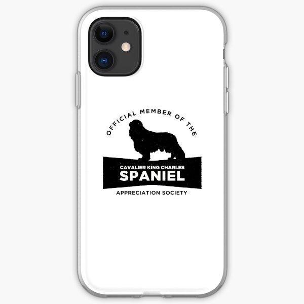 Cavalier King Charles Spaniel Appreciation Society (BLK) iPhone Soft Case