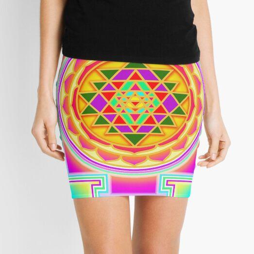 Shri Yantra, Sri Yantra, Shri Chakra  Mini Skirt