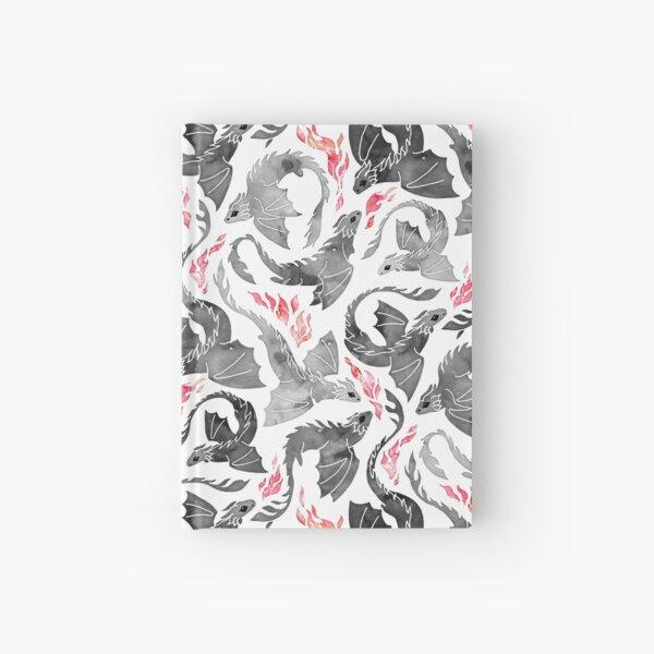 Dragon fire greys & blacks Hardcover Journal