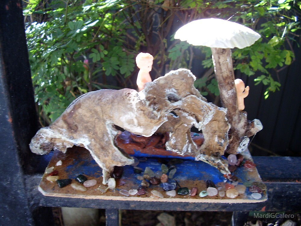 1 # Fairies at Dinasaur-Dragon Cave, at Fairy Creek Swimming Hole by MardiGCalero