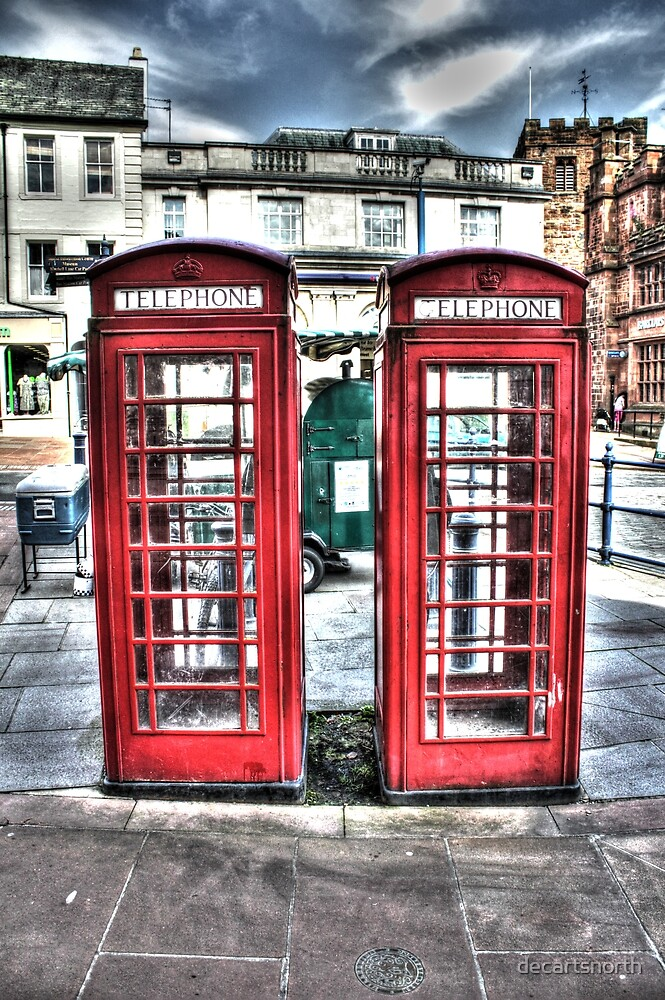 British telephone boxes by decartsnorth