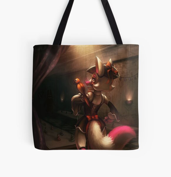 """FNAF Fan Art - The Mangle """"Toy Foxy"""" All Over Print Tote Bag"""
