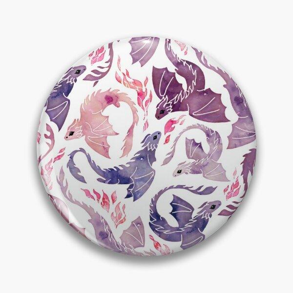 Dragon fire pink & purple Pin
