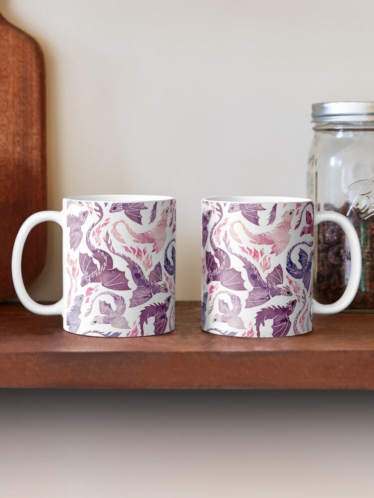 Alternate view of Dragon fire pink & purple Mug