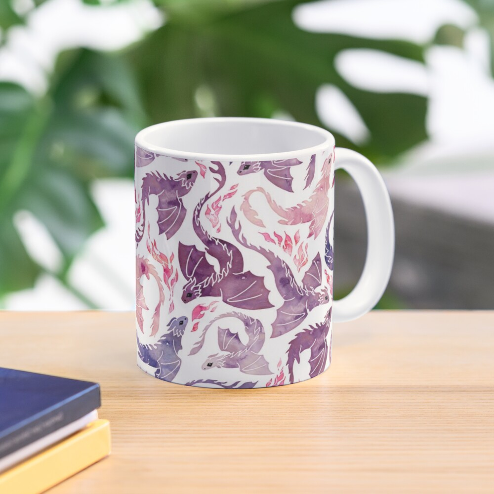 Dragon fire pink & purple Mug